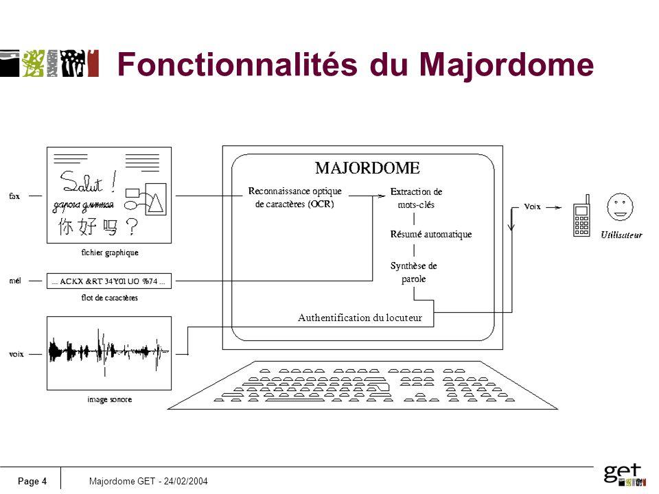 Fonctionnalités du Majordome
