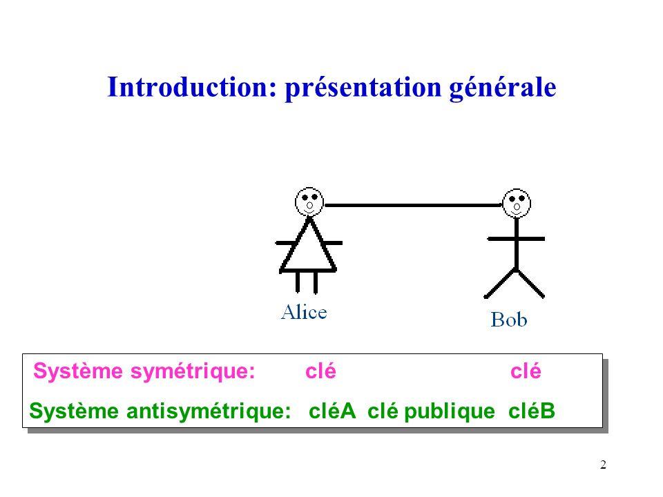 Introduction: présentation générale