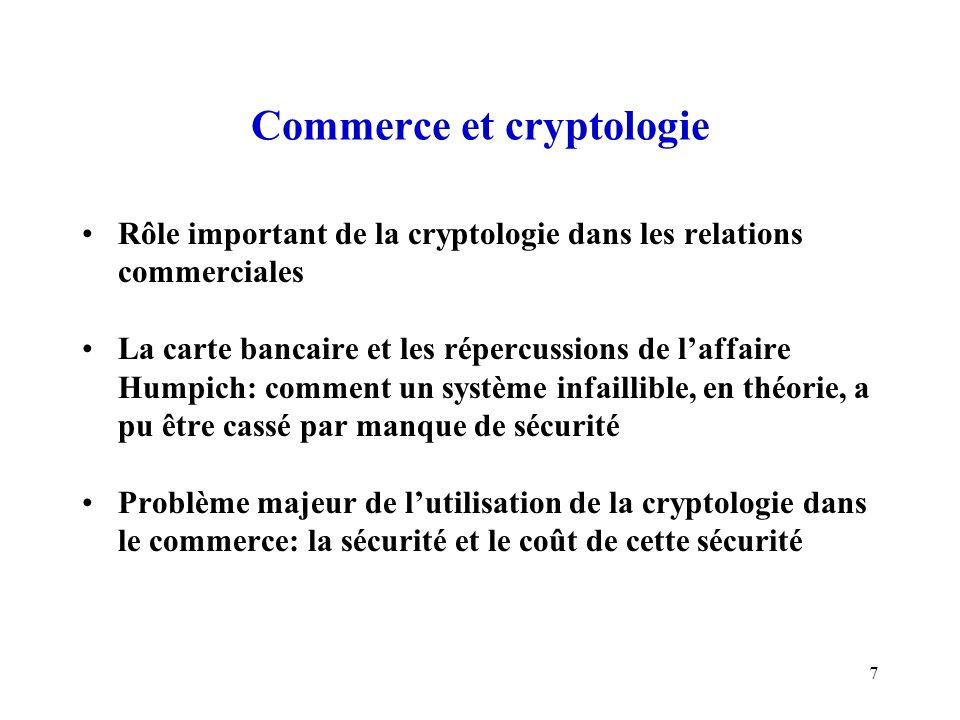 Commerce et cryptologie