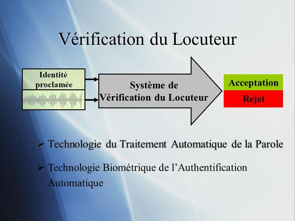 Vérification du Locuteur