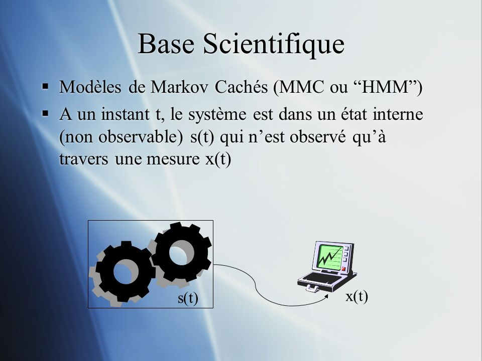 Base Scientifique Modèles de Markov Cachés (MMC ou HMM )