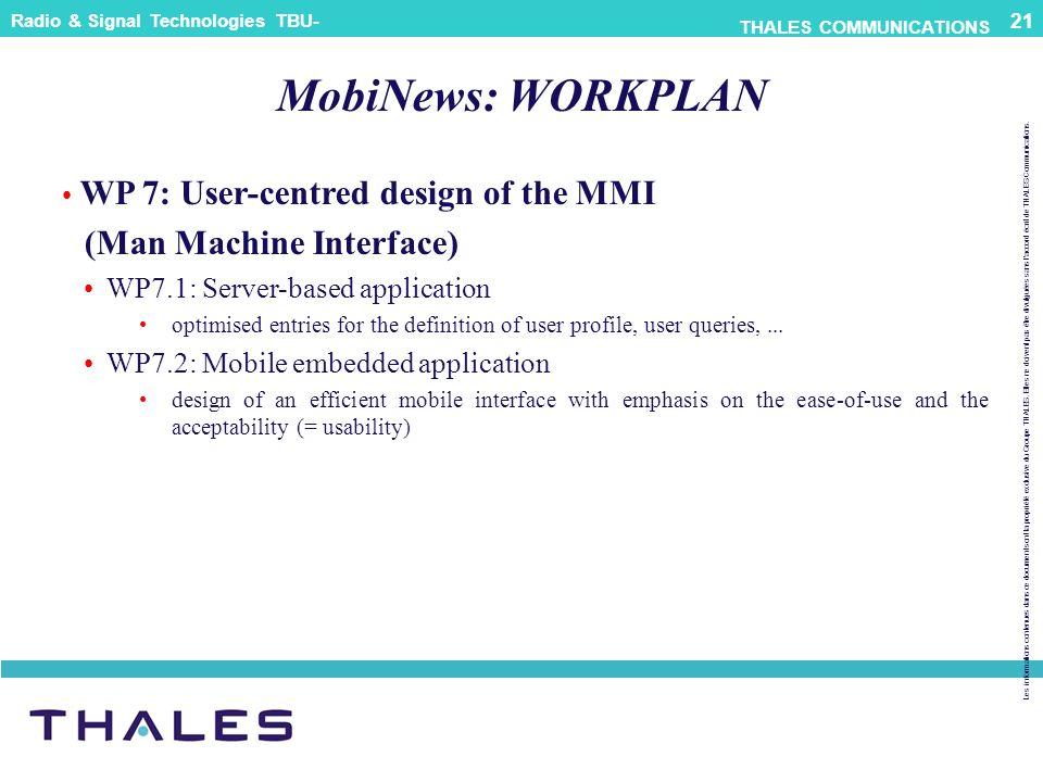 MobiNews: WORKPLAN (Man Machine Interface)