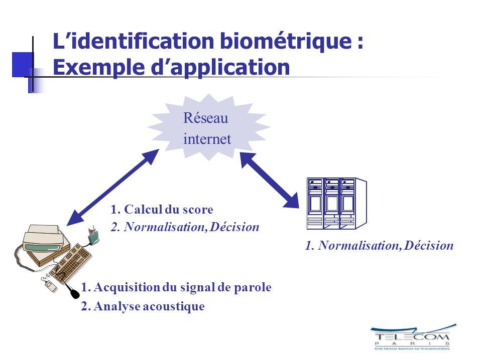 L'identification biométrique : Exemple d'application