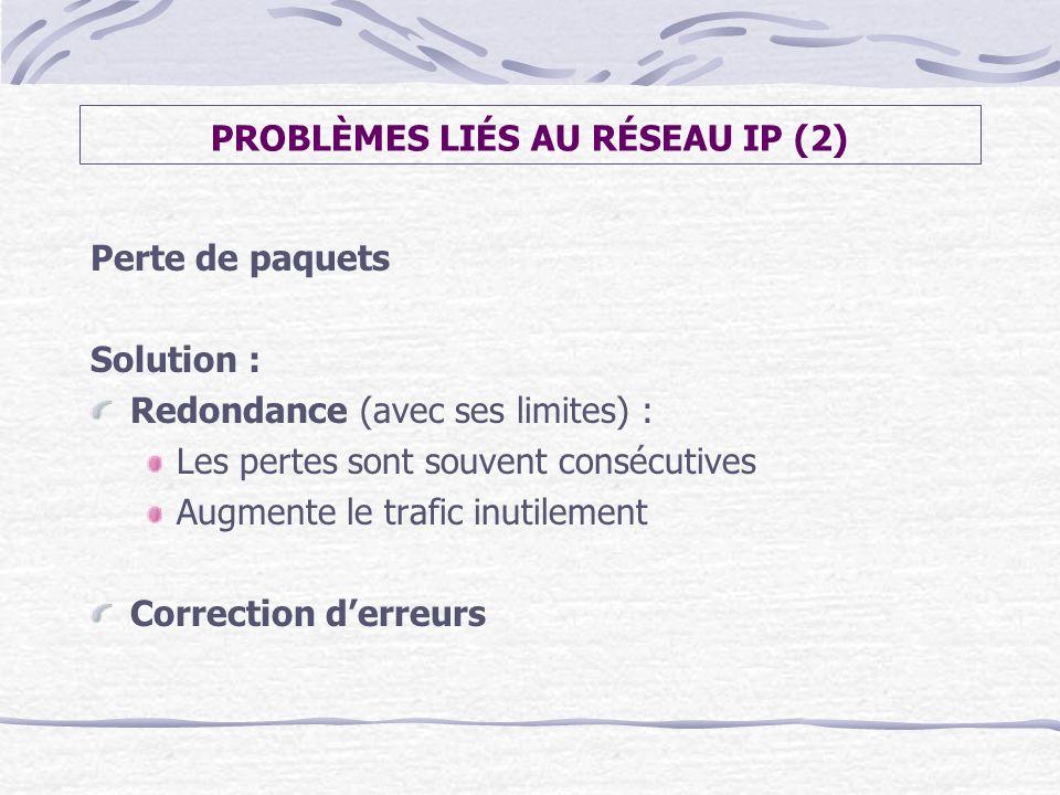 PROBLÈMES LIÉS AU RÉSEAU IP (2)