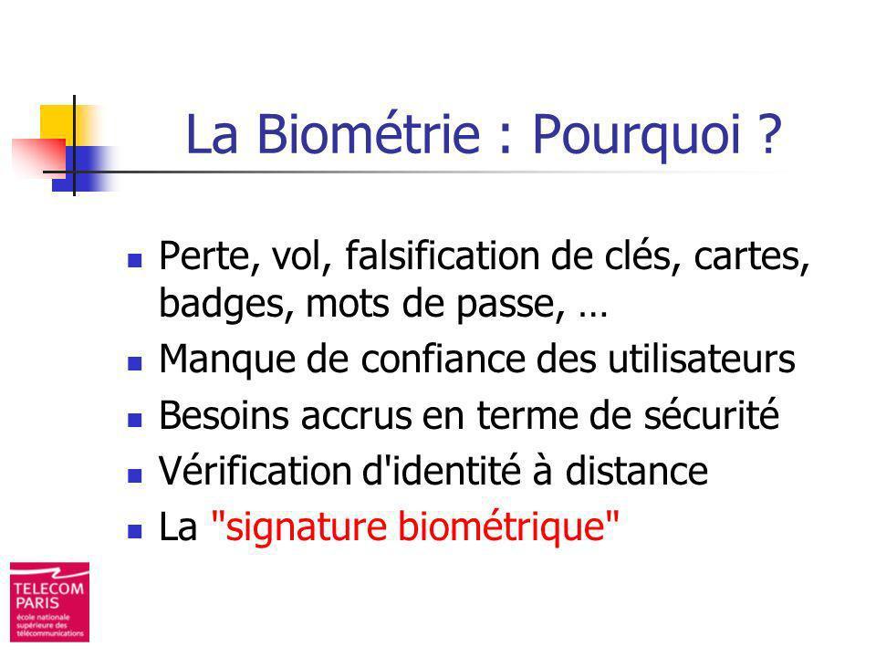 La Biométrie : Pourquoi