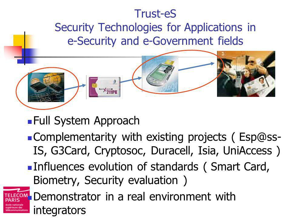Trust-eS Security Technologies for Applications in e-Security and e-Government fields