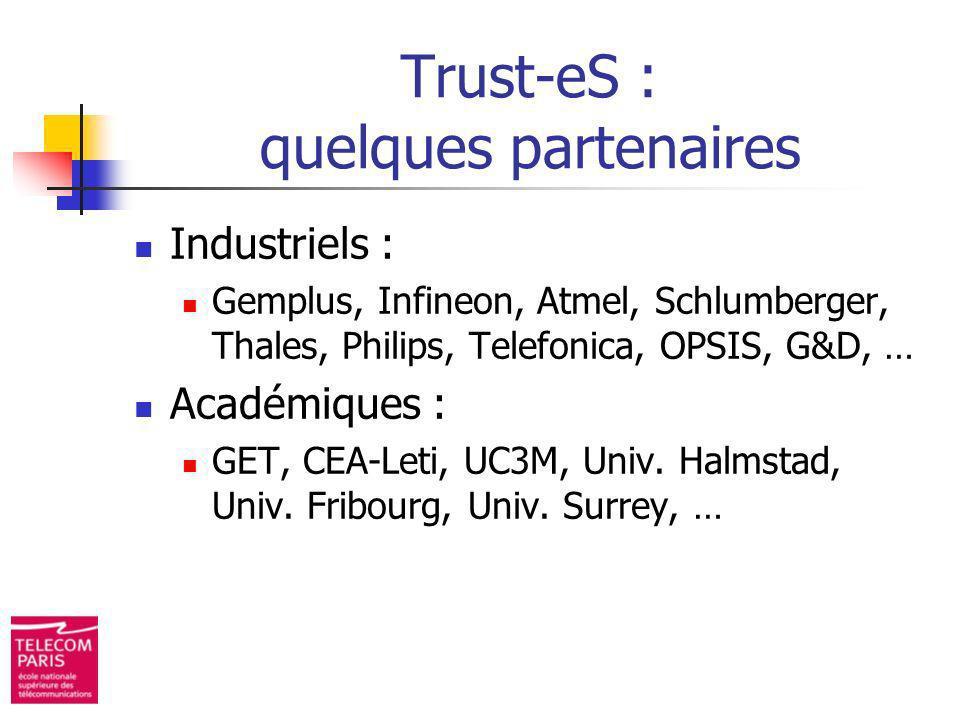 Trust-eS : quelques partenaires