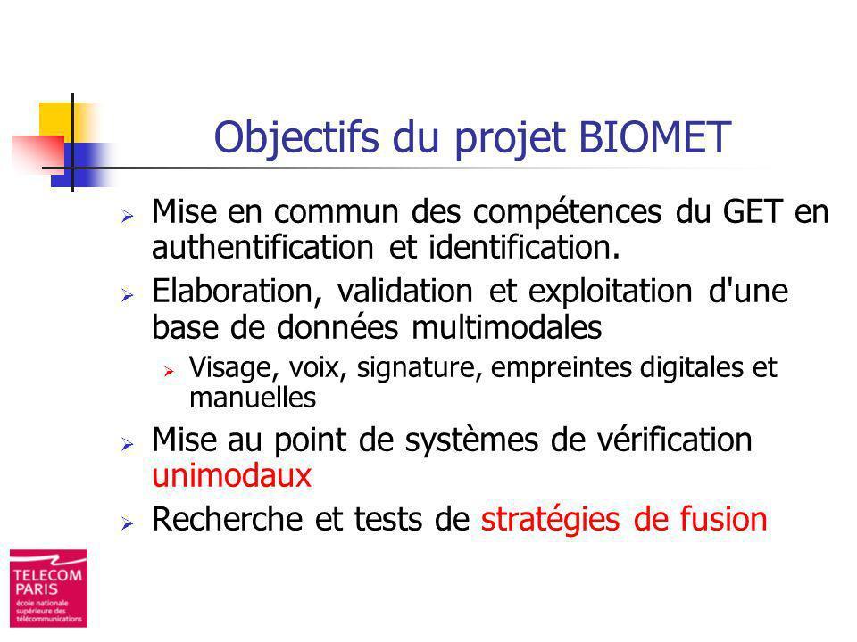 Objectifs du projet BIOMET