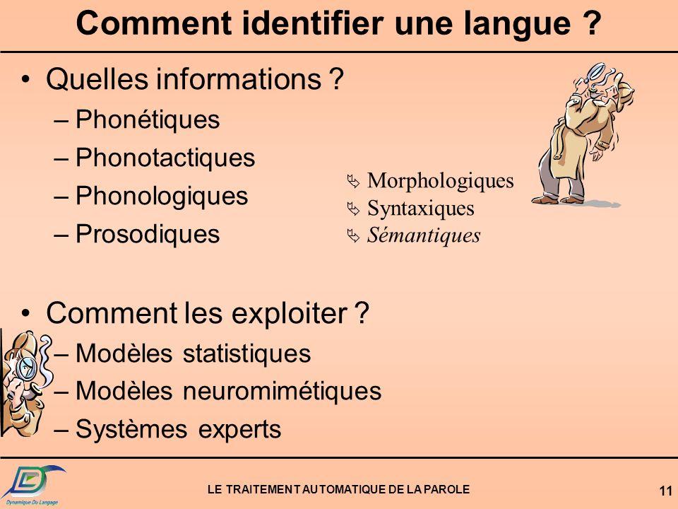 Comment identifier une langue