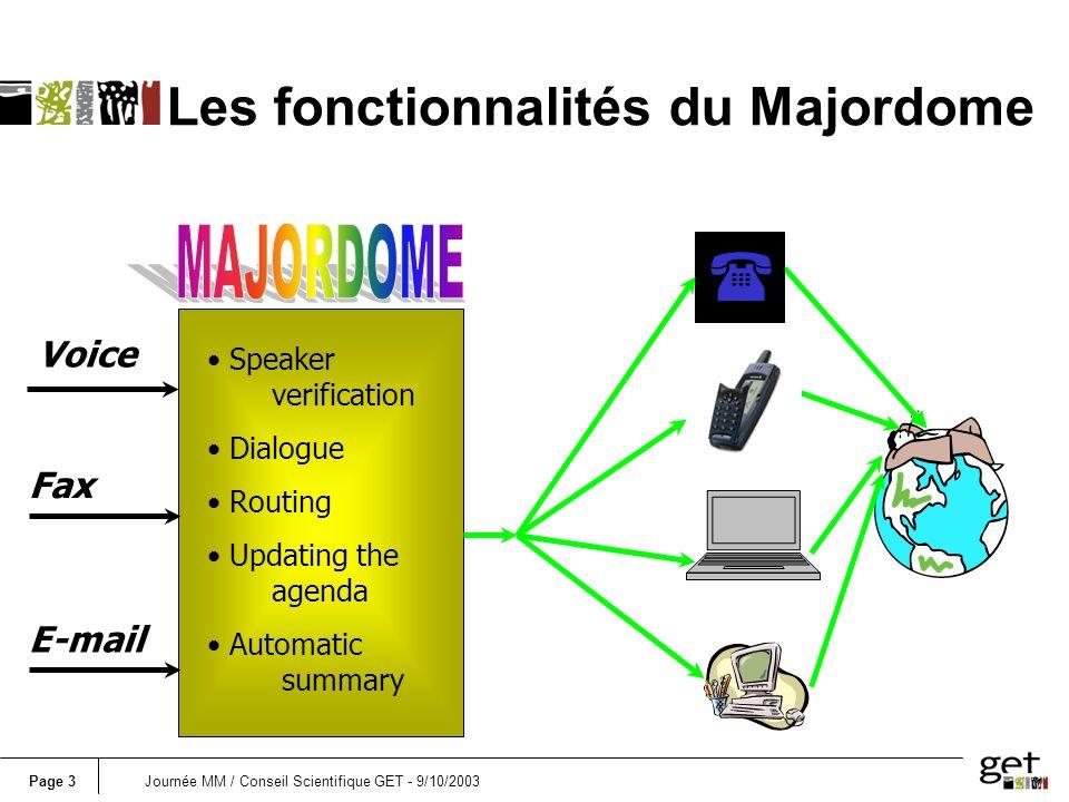 Les fonctionnalités du Majordome