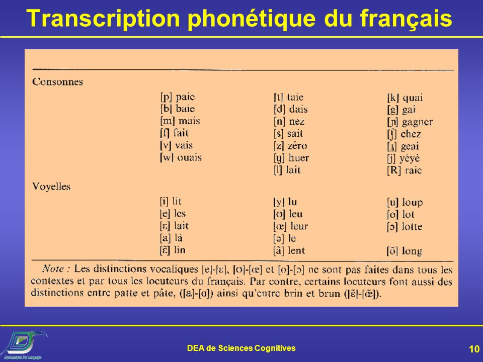 Transcription phonétique du français