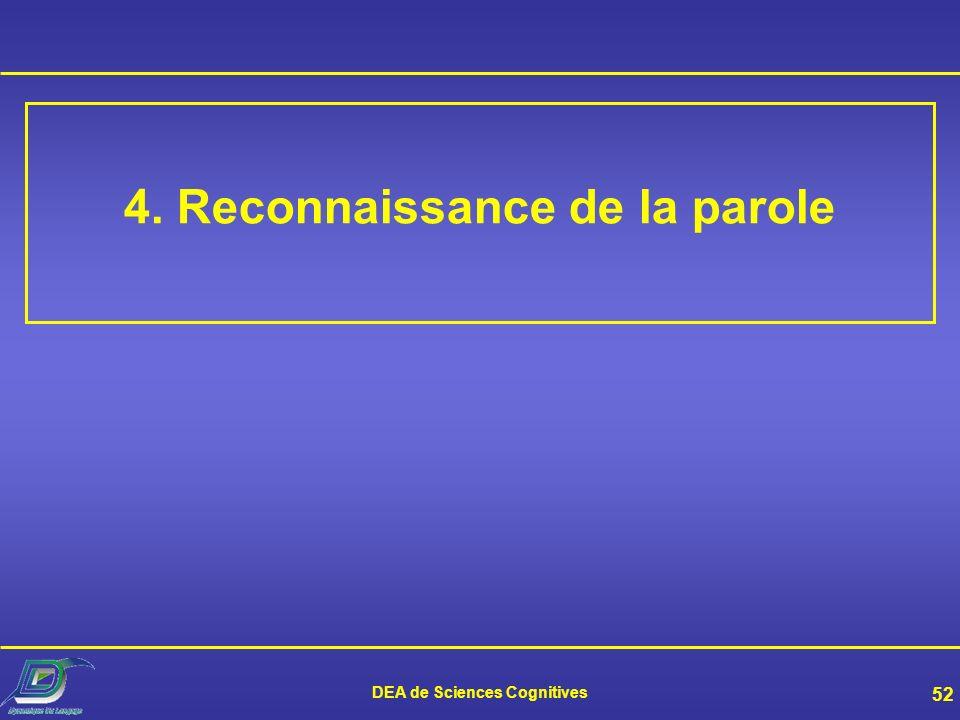 4. Reconnaissance de la parole