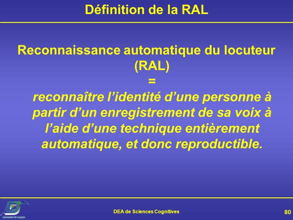 DEA de Sciences Cognitives