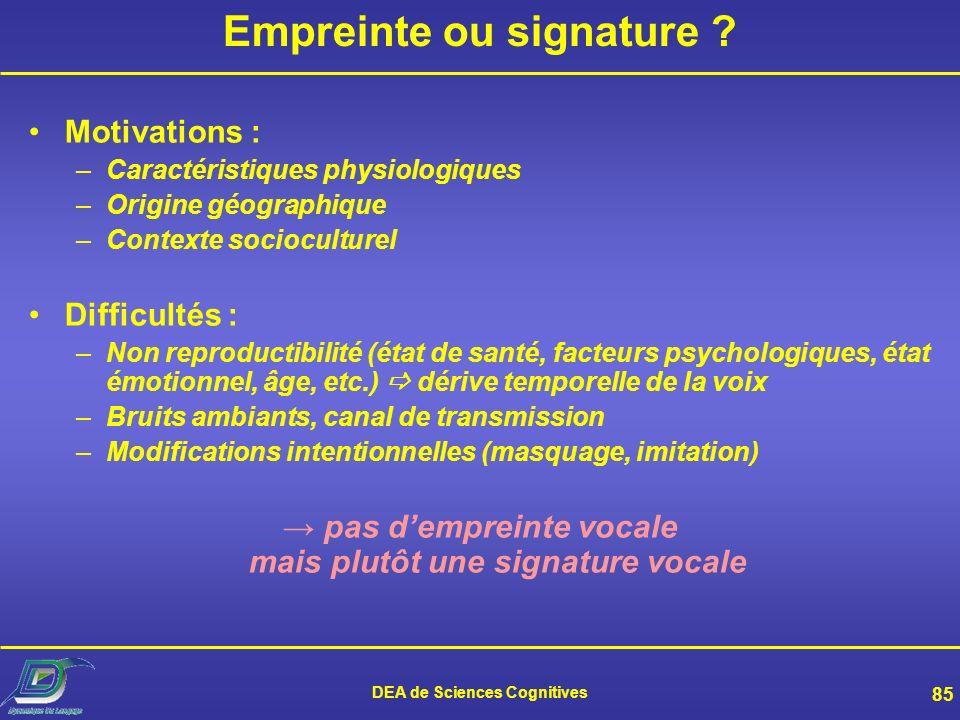 Empreinte ou signature