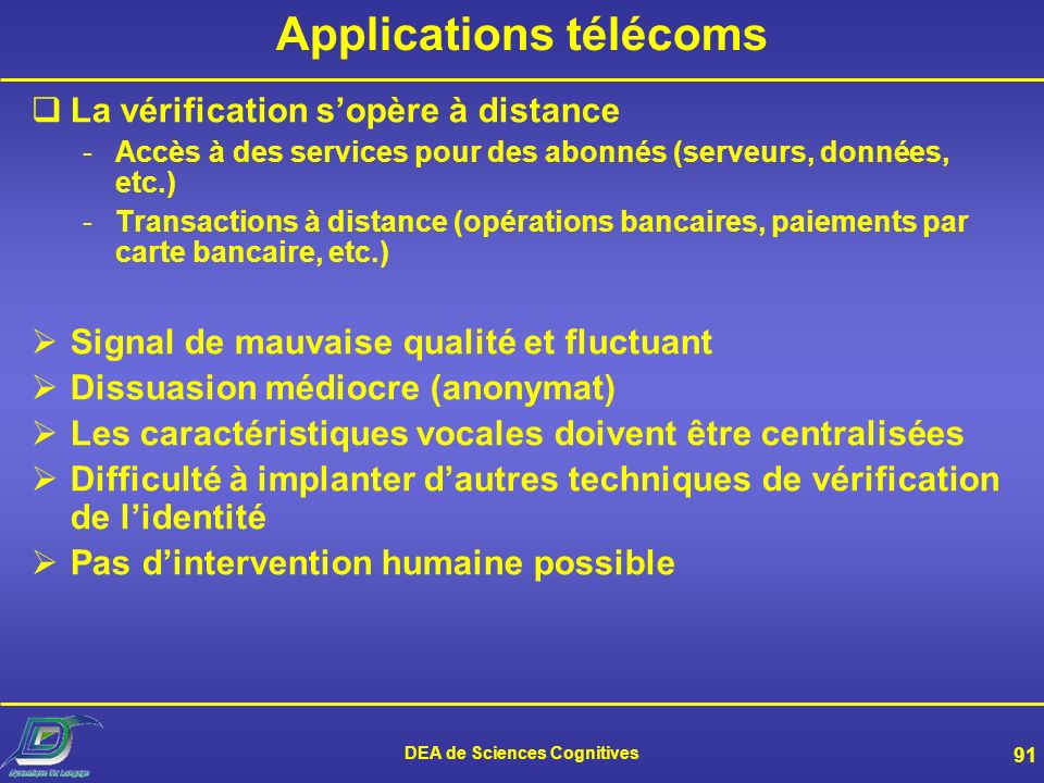 Applications télécoms