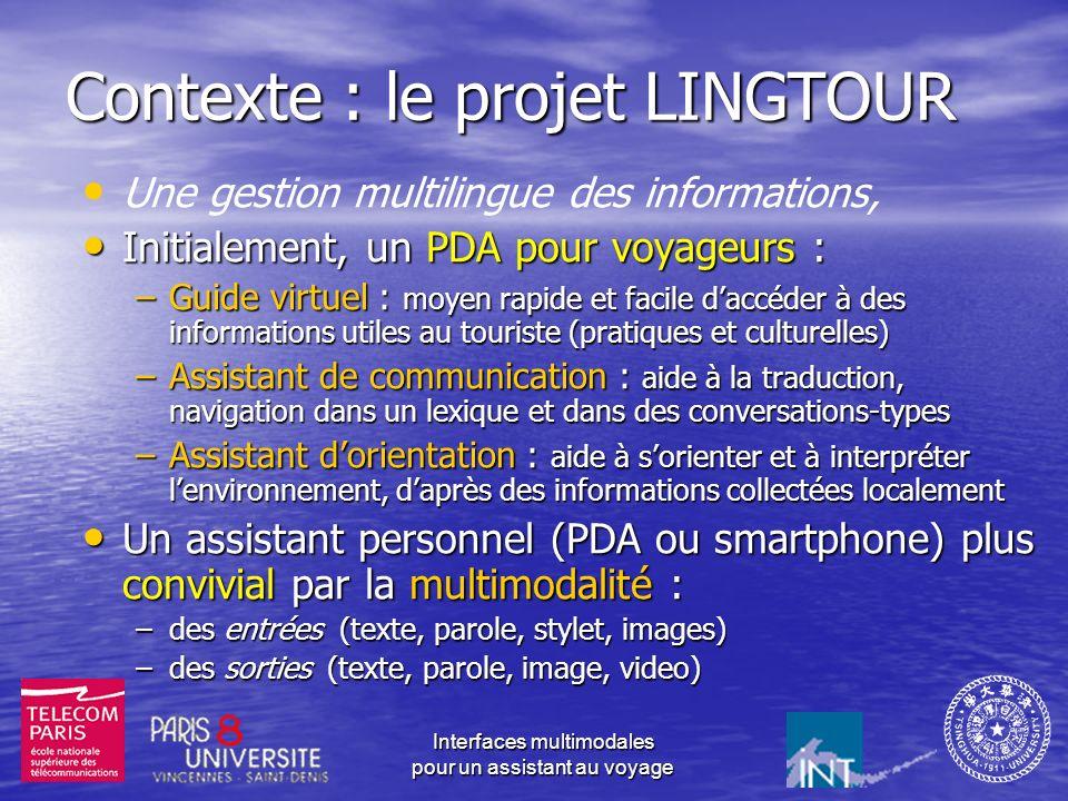 Contexte : le projet LINGTOUR
