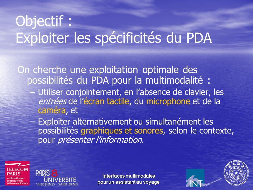 Objectif : Exploiter les spécificités du PDA