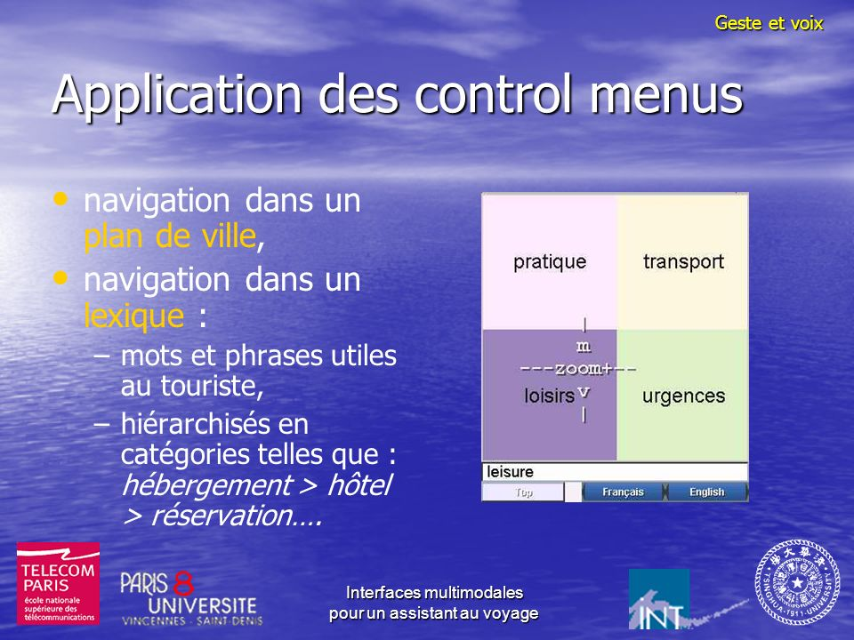 Application des control menus