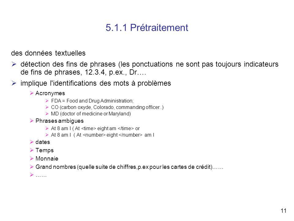 5.1.1 Prétraitement des données textuelles