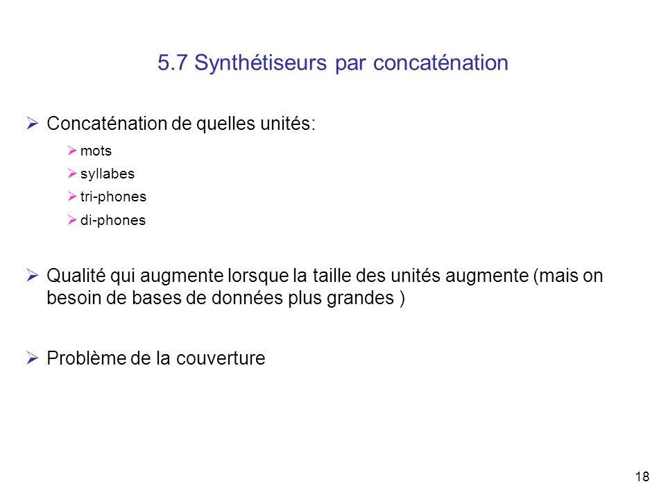 5.7 Synthétiseurs par concaténation