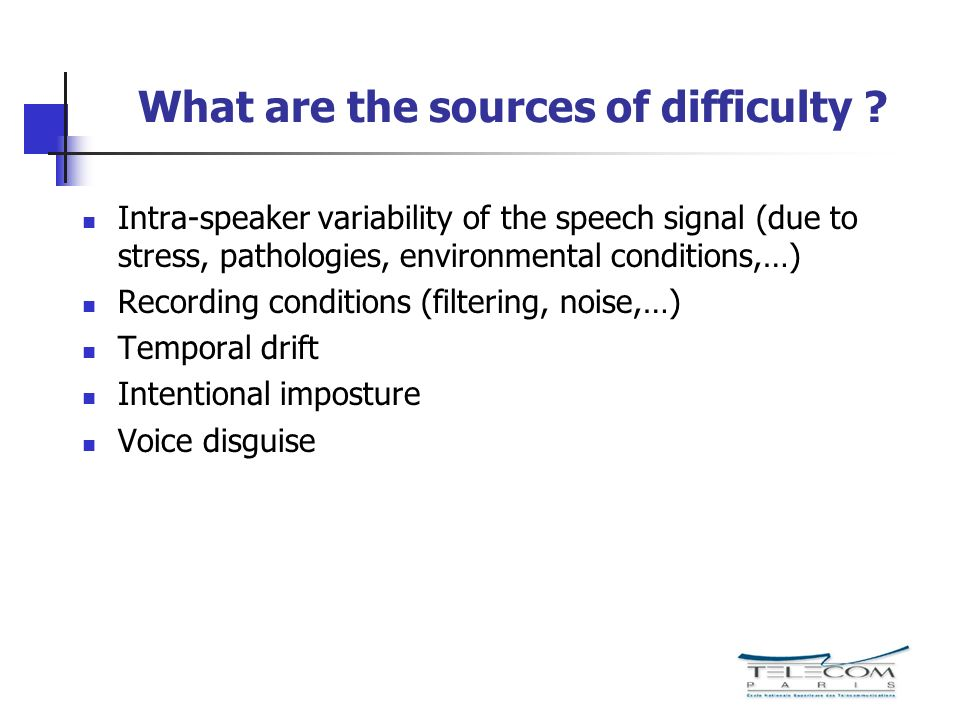 What are the sources of difficulty