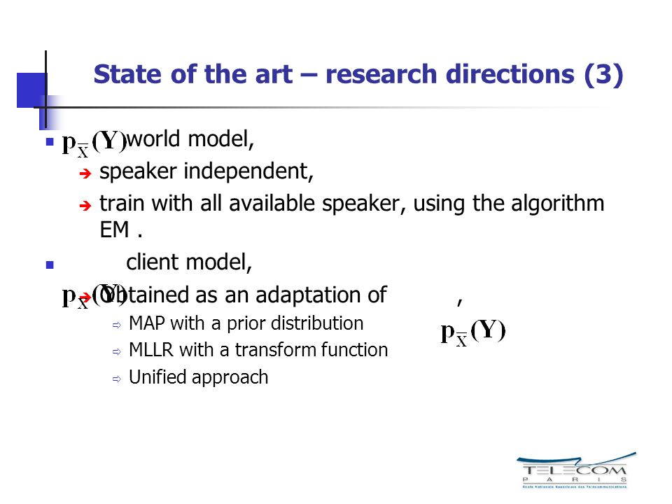 State of the art – research directions (3)