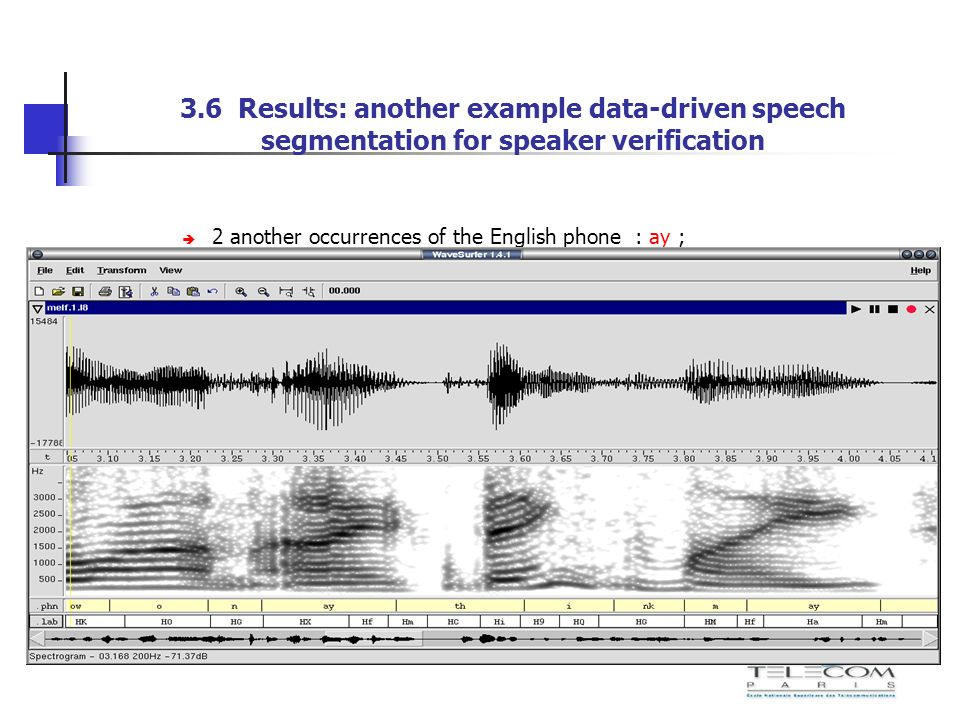 3.6 Results: another example data-driven speech segmentation for speaker verification