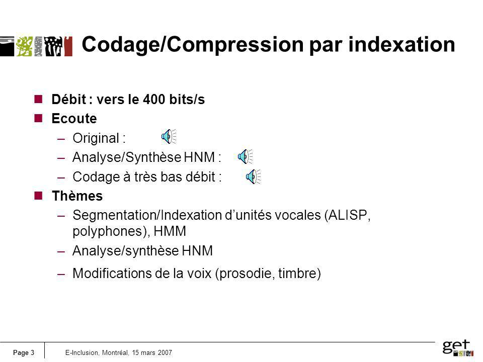 Codage/Compression par indexation