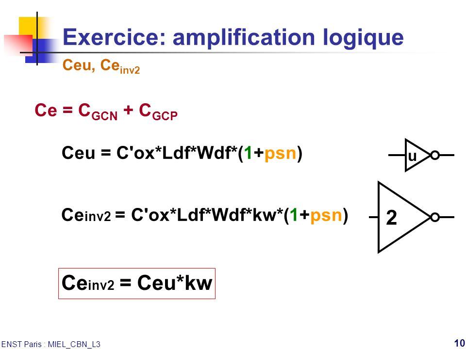 Exercice: amplification logique Ceu, Ceinv2
