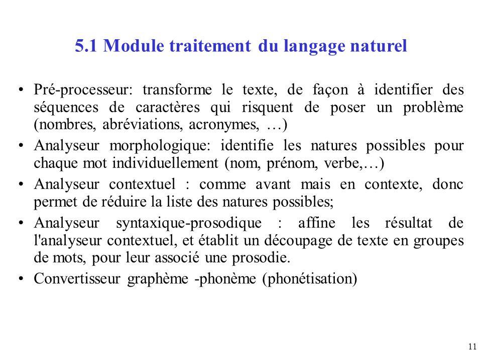 5.1 Module traitement du langage naturel