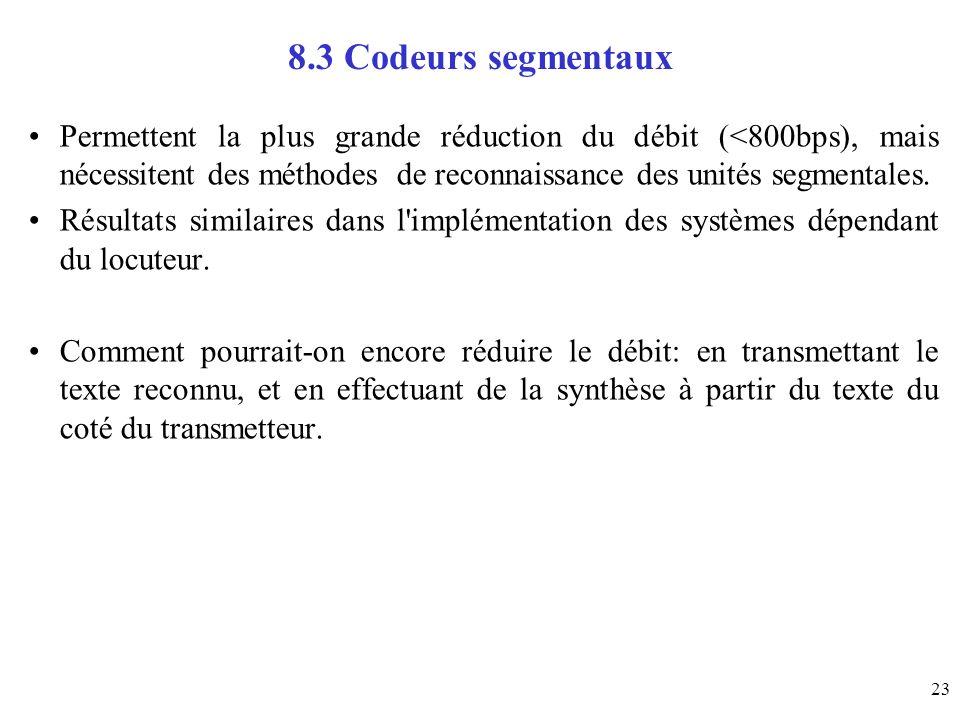 8.3 Codeurs segmentaux