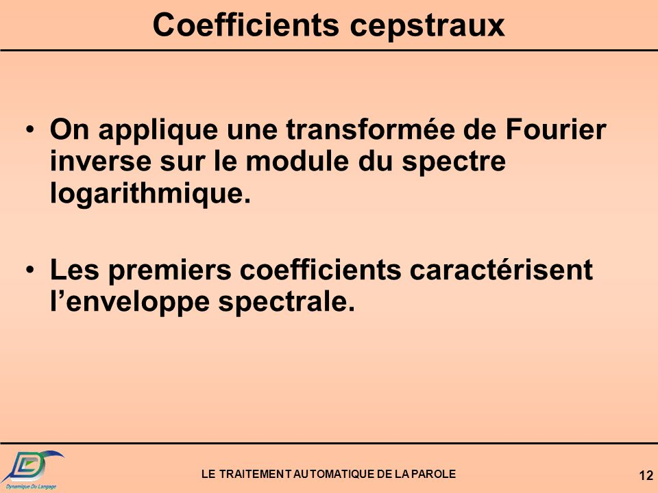 Coefficients cepstraux