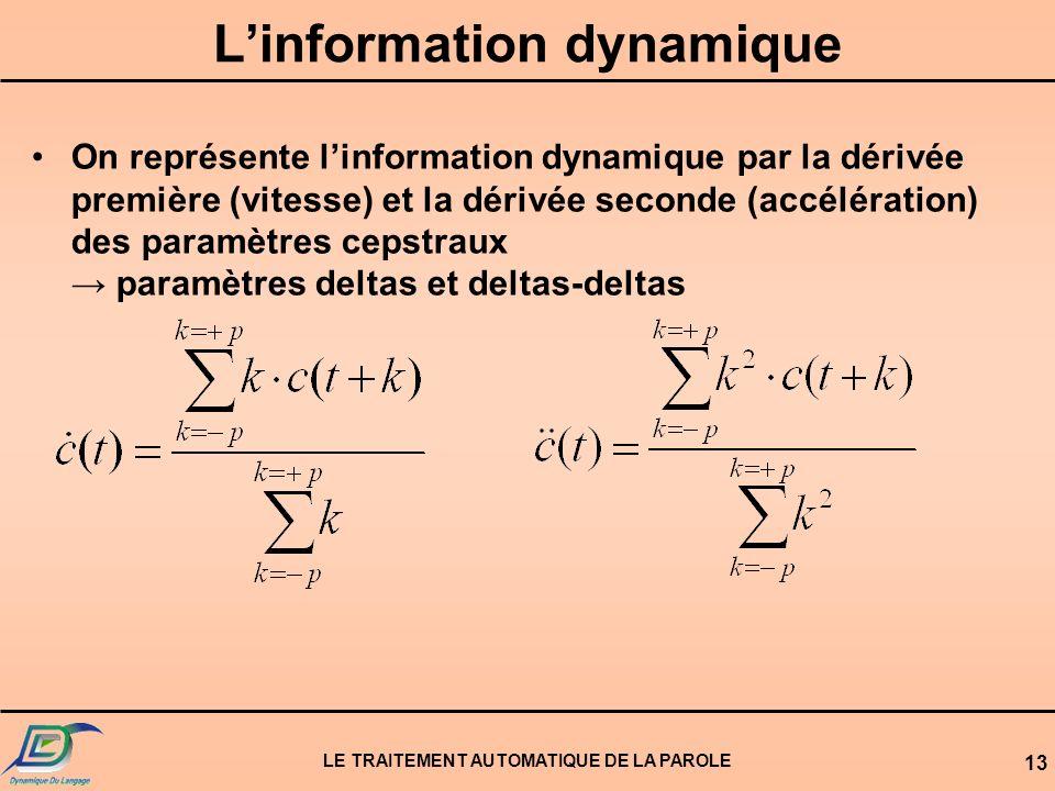 L'information dynamique