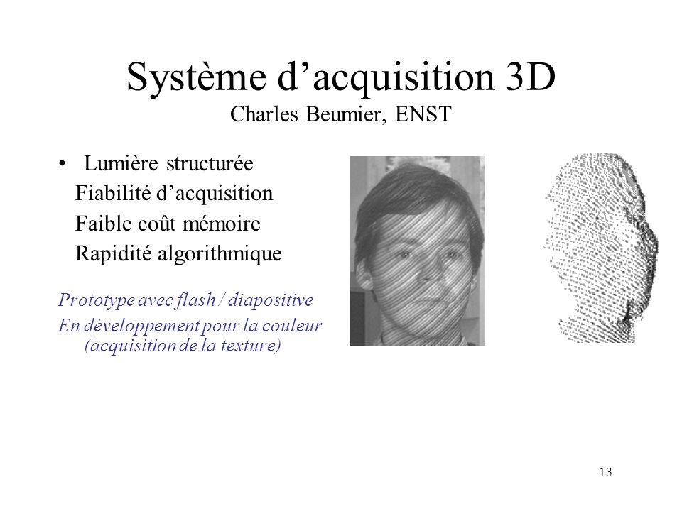 Système d'acquisition 3D Charles Beumier, ENST