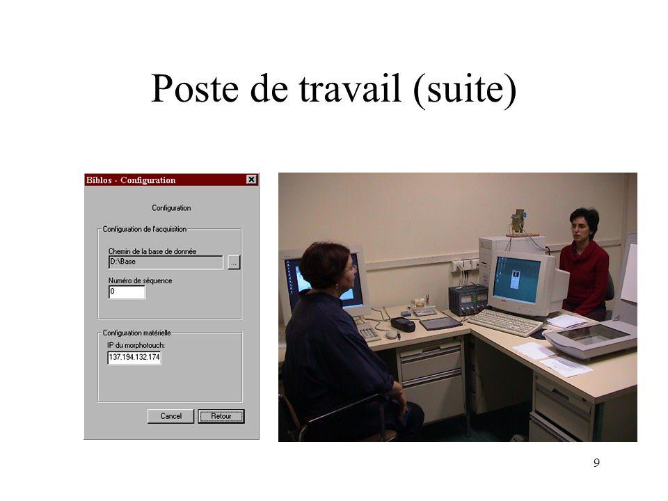 Poste de travail (suite)