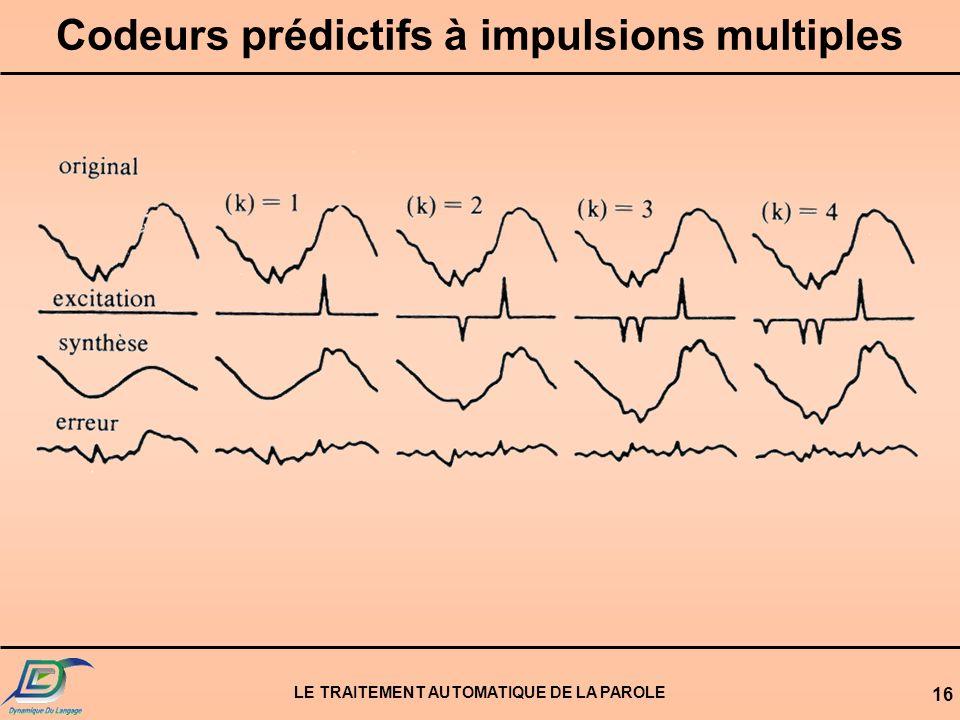 Codeurs prédictifs à impulsions multiples