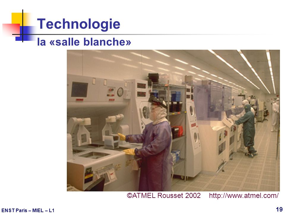 Technologie la «salle blanche»
