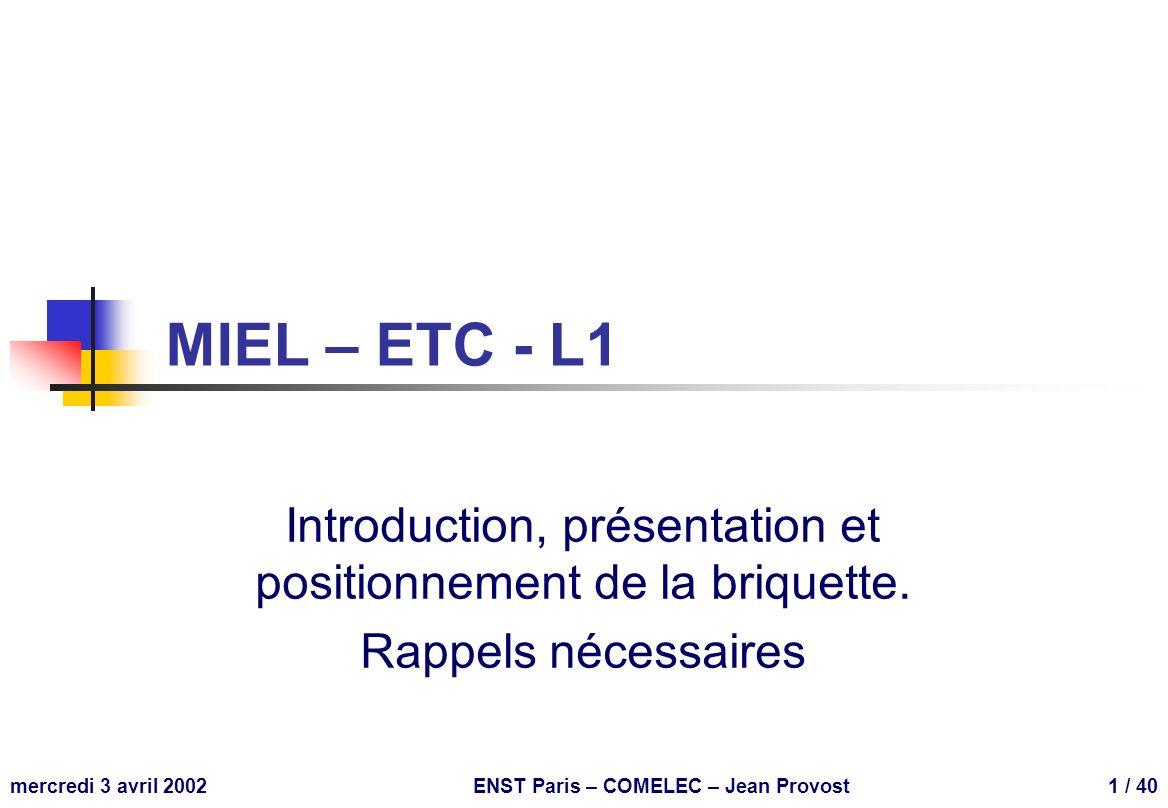 ENST Paris – COMELEC – Jean Provost
