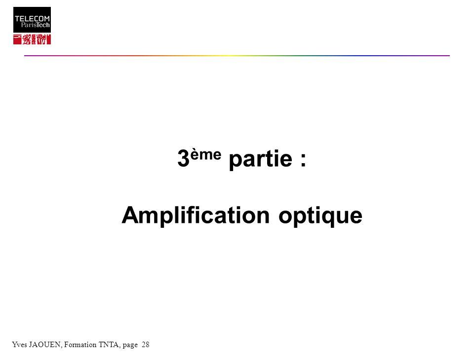 3ème partie : Amplification optique