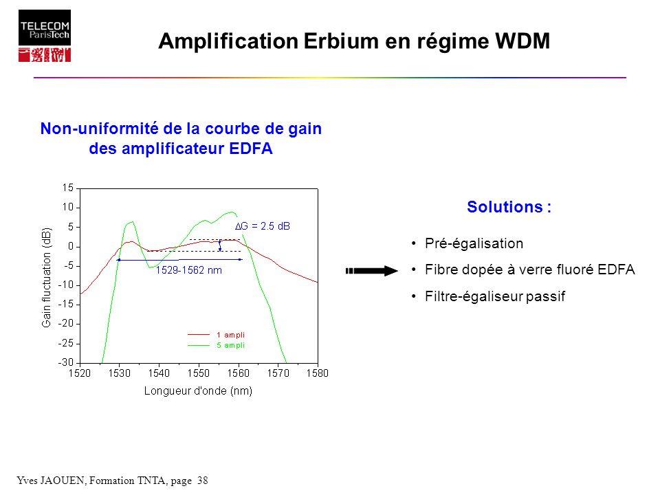 Amplification Erbium en régime WDM