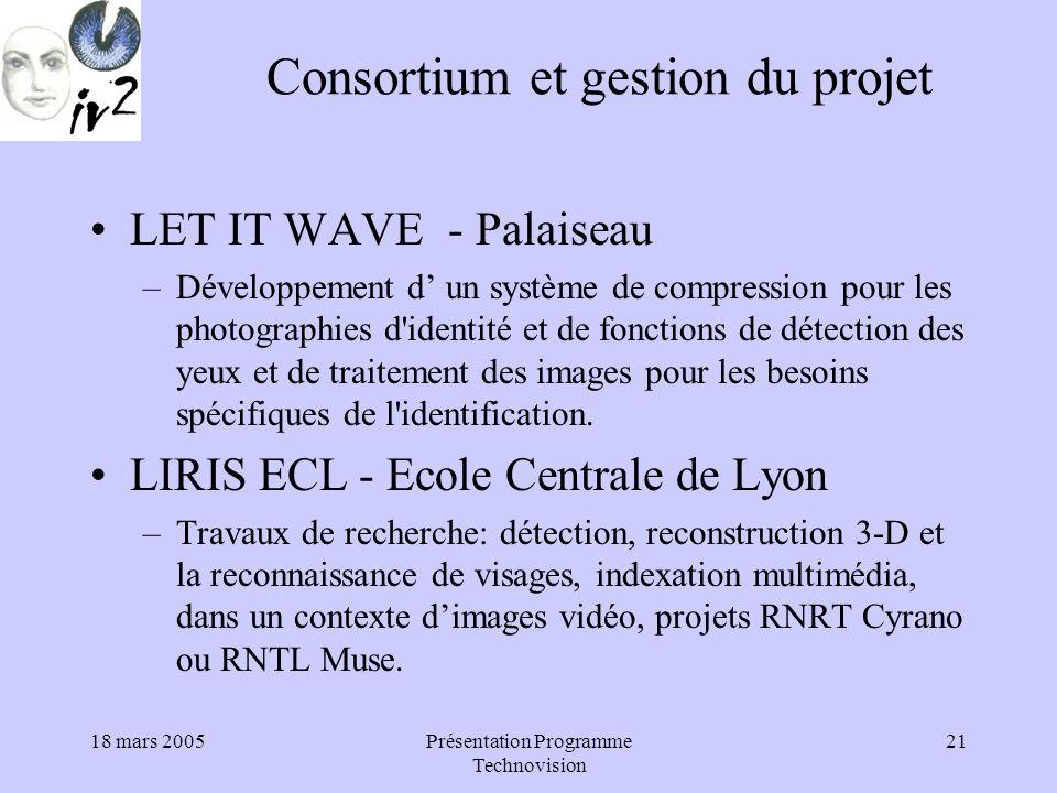 Consortium et gestion du projet