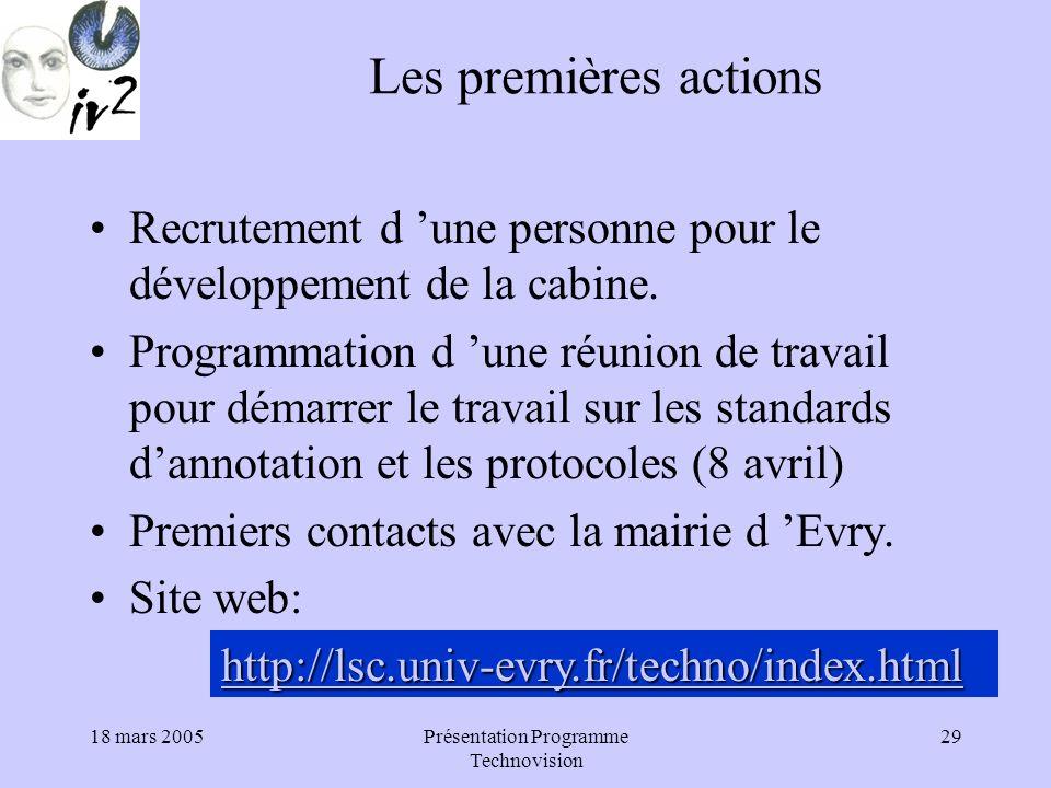 Présentation Programme Technovision