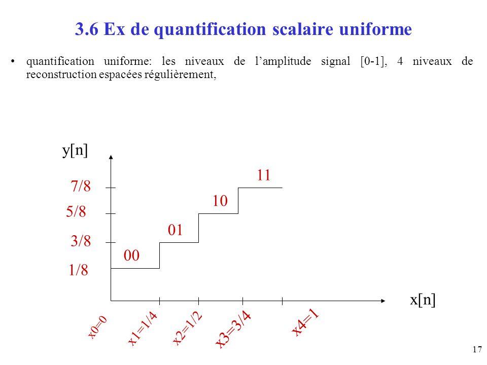 3.6 Ex de quantification scalaire uniforme