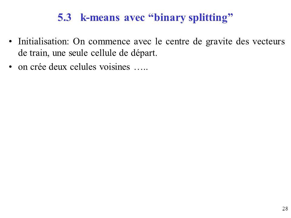 5.3 k-means avec binary splitting