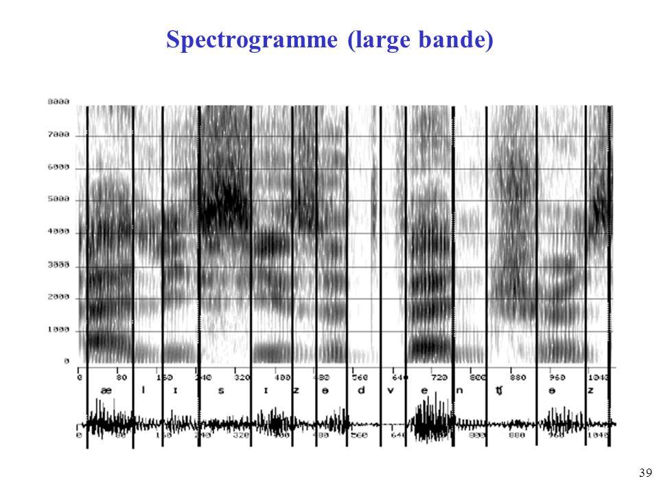 Spectrogramme (large bande)