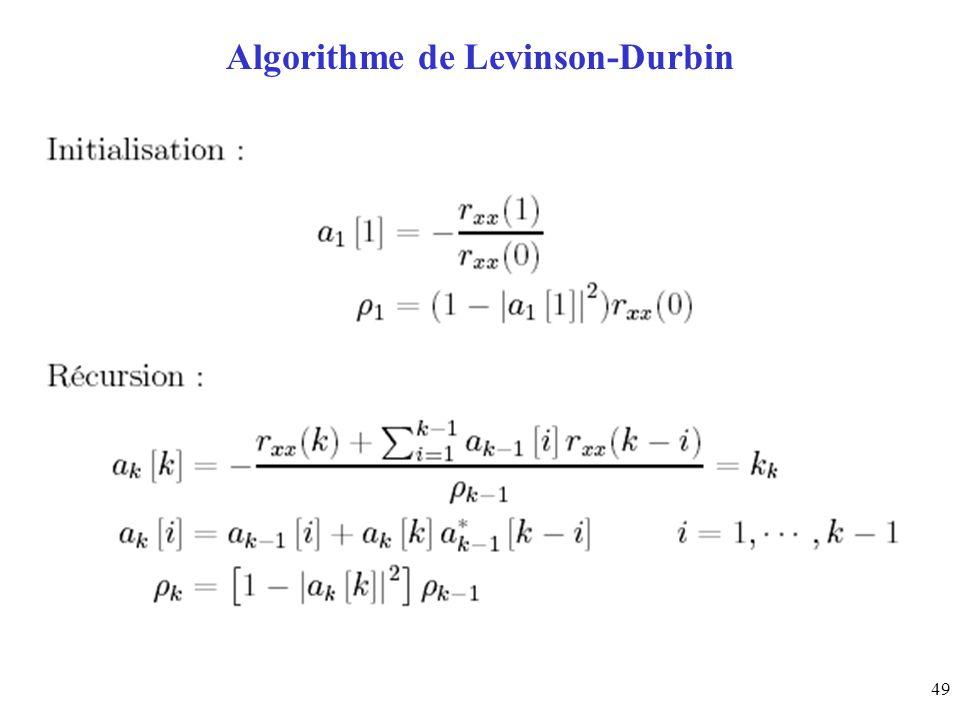 Algorithme de Levinson-Durbin