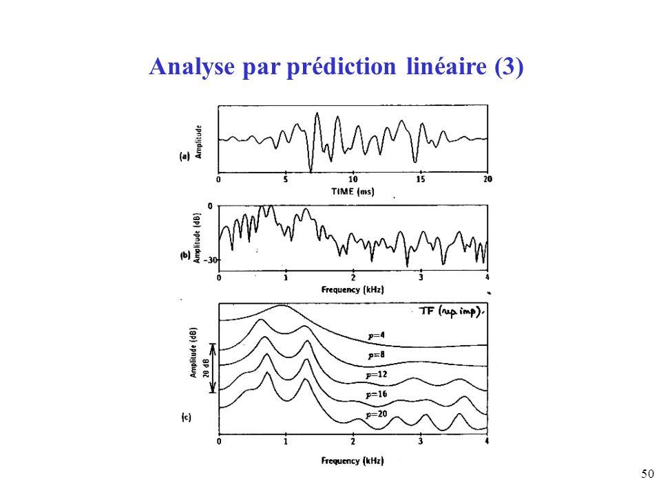 Analyse par prédiction linéaire (3)