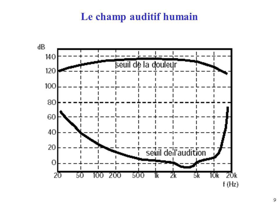 Le champ auditif humain