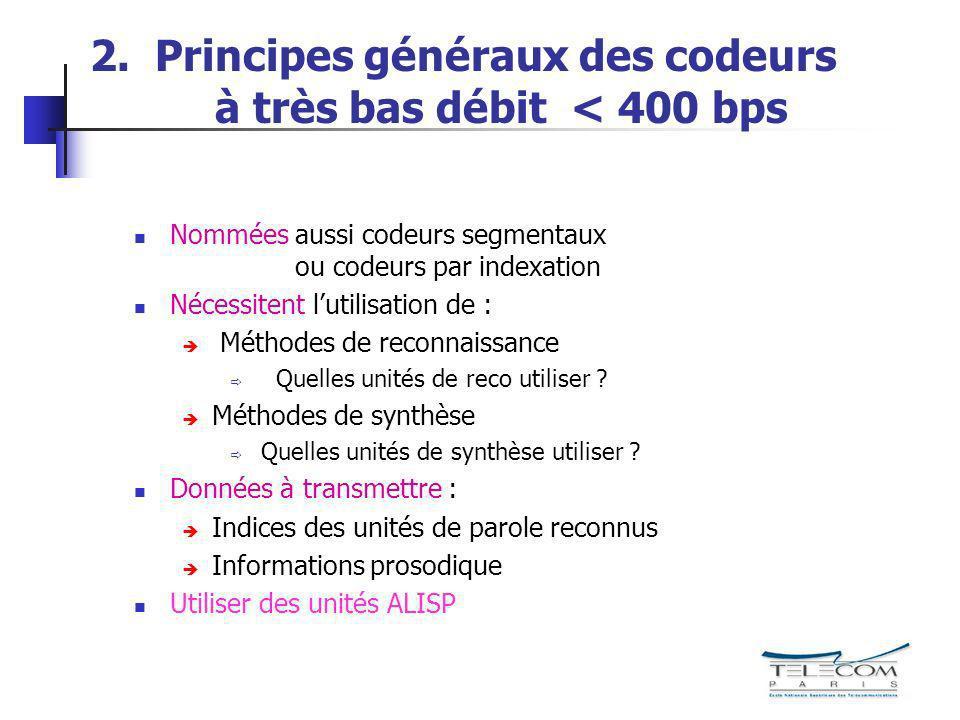 2. Principes généraux des codeurs à très bas débit < 400 bps