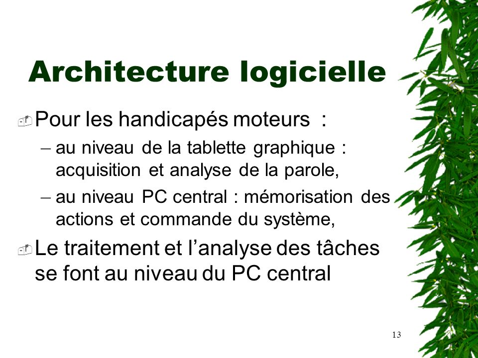 Le majordome de la maison intelligente ppt t l charger for Architecture logicielle
